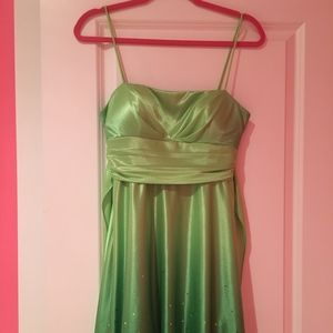 Shimery Green Cocktail Dress